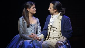 "Lin-Manuel Miranda and Phillipa Soo are pictured in ""Hamilton."" Great Performances premieres ""Hamilton's America"" this fall."
