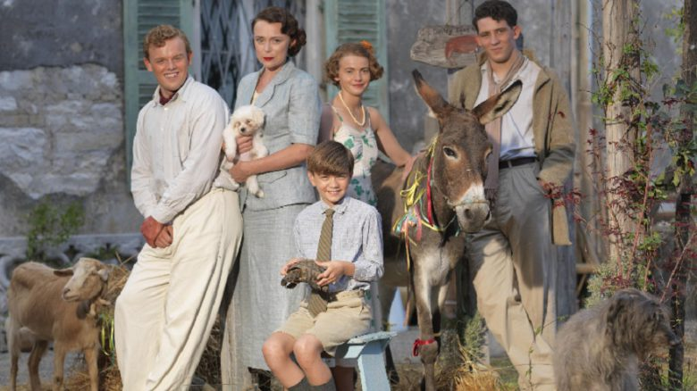The Durrells in Corfu On MASTERPIECE Sundays, October 16 - November 20 at 8pm ET on PBS  Pictured: CALLUM WOODHOUSE as Leslie, KEELEY HAWES as Louisa, MILO PARKER as Gerry, DAISY WATERSTONE as Margo and JOSH O'CONNOR as Larry.  (C) John Rogers/Sid Gentle Films & MASTERPIECE