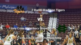 Girls CIAC High School Basketball Class L Championship: Hand-Madison 50, Holy Cross-Waterbury 45